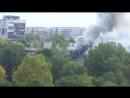 Пожар на ул. Авиаторов, 76 (другой ракурс)