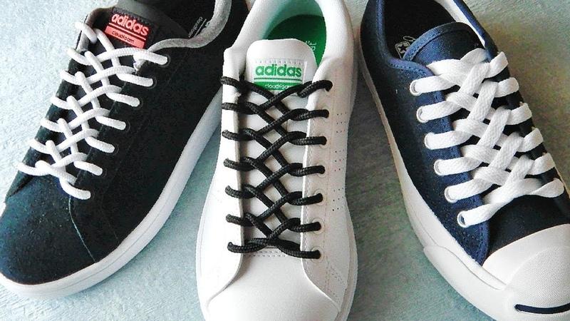 〔靴紐の結び方〕ファスナーのような編み目がカッコイイ靴ひもの通し方 ジッパー結び how to tie shoelaces  〔生活に役立つ!〕