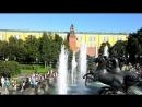 Москва Александровский сад фонтаны Гейзер и Навес