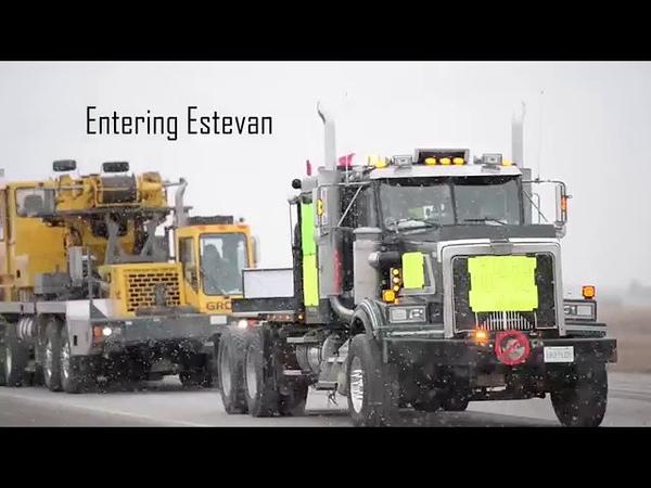 Gelbwesten nun auch in Kanada! Estevan truck convoy protest Dec 22, 2018