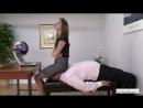 Facesitting black string panty Mistress Bijou Steal in office