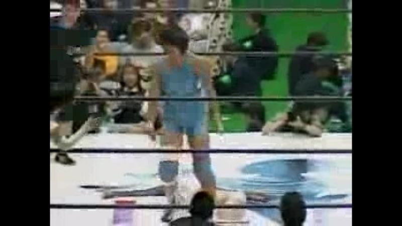 1. Chaparrita ASARI and Sakie Hasegawa vs. Leo Kitamura and Michiko Nagashima (LLPW 11/9/1993)