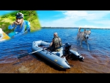 Обкатали MERCURY 5 часть 2-3 озеро Горовалдайское,друзья,шашлык и хаска