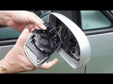 How to replace and refit Side Wing Mirror Glass for VW TouranPassatGolfJettaBora -DIY