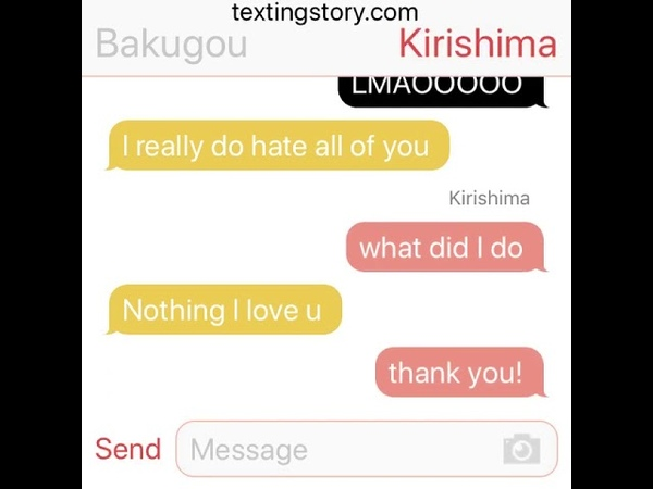 KiriBaku: Bakugou comes out | MY HERO ACADEMIA [Texting Stories group chat feature!]