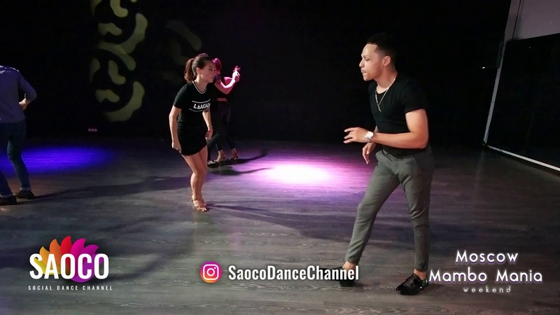 Charlie Garcia and Natasha Chumakova Salsa Dancing at Moscow MamboMania weekend, Sunday 28.10.2018