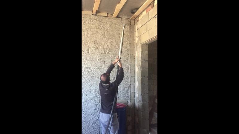Работа штукатурной станции 220/380v
