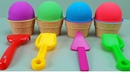 4 Kinetic Sand Ice Cream Cups and Surprise Eggs Fun for Kids