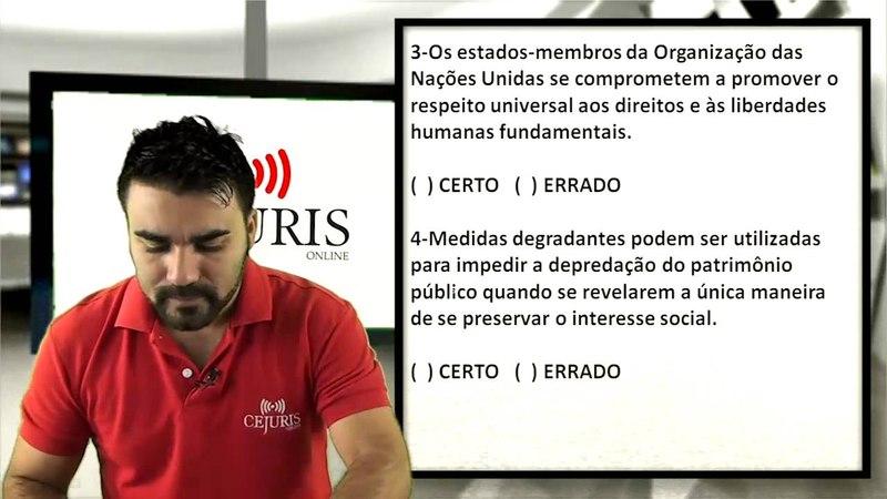Direitos Humanos - Exercícios Cespe - Prof. Fábio Ramos