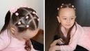 Прическа для длинных, средних волос.💇♀️ Hairstyle for long, for medium hair.🎀