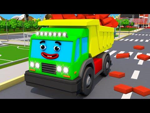 Eğitici çizgi filmi - Çekici Kamyon MAX ve Süper harika araba - Akıllı arabalar - koleksiyon