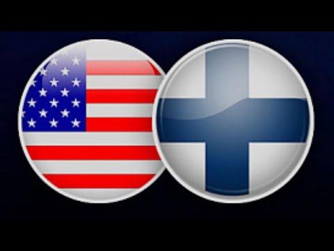 Хоккей США - Финляндия.USA - Finland. Live Прямая трансляция из Канады