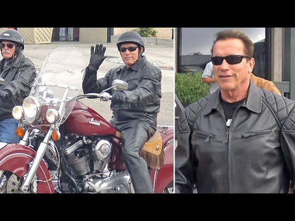 Leather-Clad Arnold Schwarzenegger Chuckles About 'The Terminator' Taking Out Mayweather McGregor