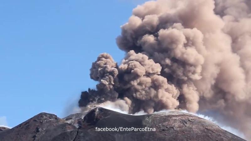 Volcano Etna eruption, Italy, august 24, 2018 | Извержение вулкана Этна, Италия, 24.08.2018
