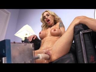 Blonde milf has machine sex for the first time machine dildo, vaginal penetration, smoking, milf, straight, blonde