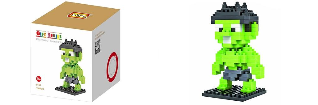 "Конструктор LOZ Diamond Block Gift Series ""Халк"" 9155"