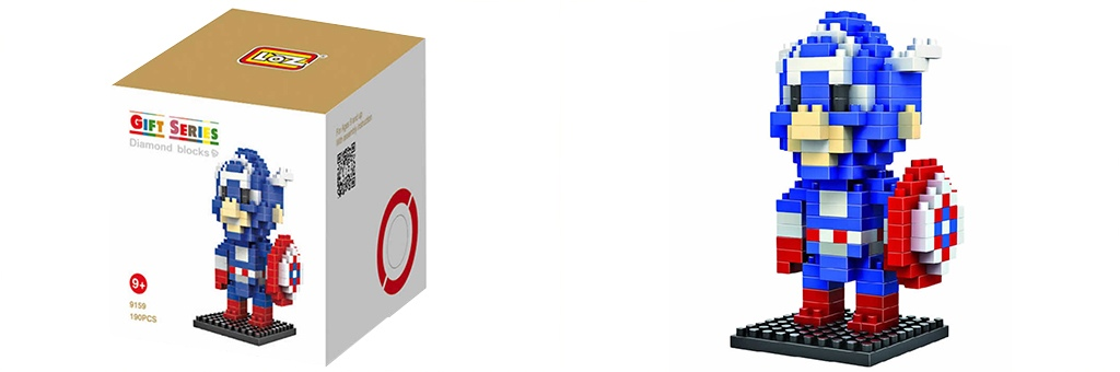 "Конструктор LOZ Diamond Block Gift Series ""Капитан Америка"" 9159"