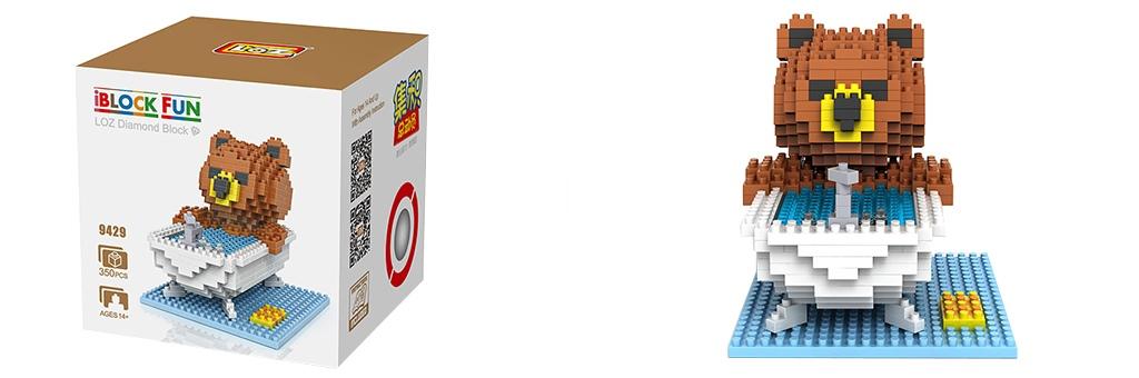 """Конструктор LOZ Diamond Block iBlock Fun """"Тед в ванне"""" 9429"""