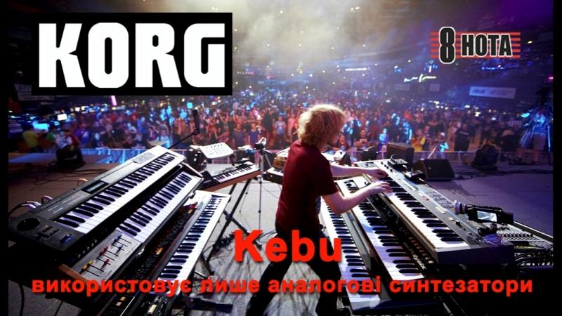 Kebu використовує лише аналогові синтезатори Korg