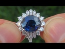 GIA Certified UNHEATED Natural Cornflower Blue Sapphire Diamond 18k Gold Engagement Ring A131566