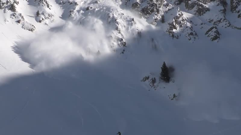 Avalanche in the Heart of the Pyrenees