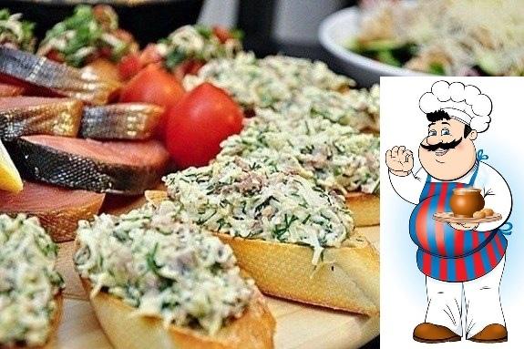 бутерброды подборка салатов к новому году 1. закусочные бутерброды с печенью трески ингредиенты: - печень трески-2 баночки по 100 гр - яйца-3-4 шт - тертый,твердый сыр-количество по желанию -
