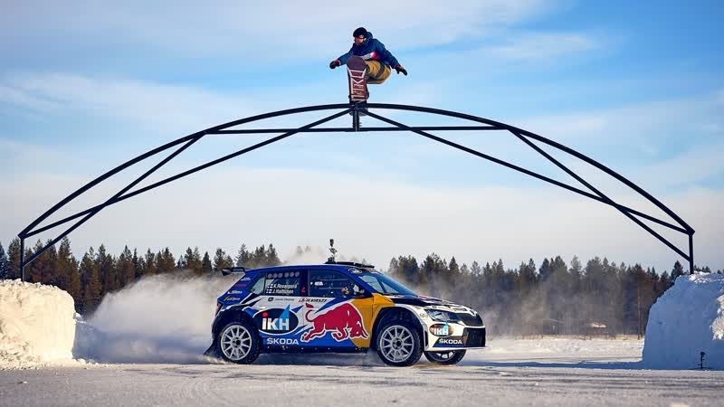 Snowboarding and WRC combine in Finnish Lapland