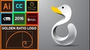 How to design a logo with golden Ratio Adobe Illustrator CC HD Duck Logo
