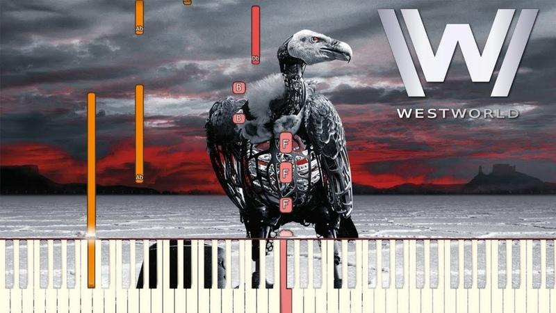Westworld Season 2 - Heart Shaped Box   Piano Tutorial (Synthesia)