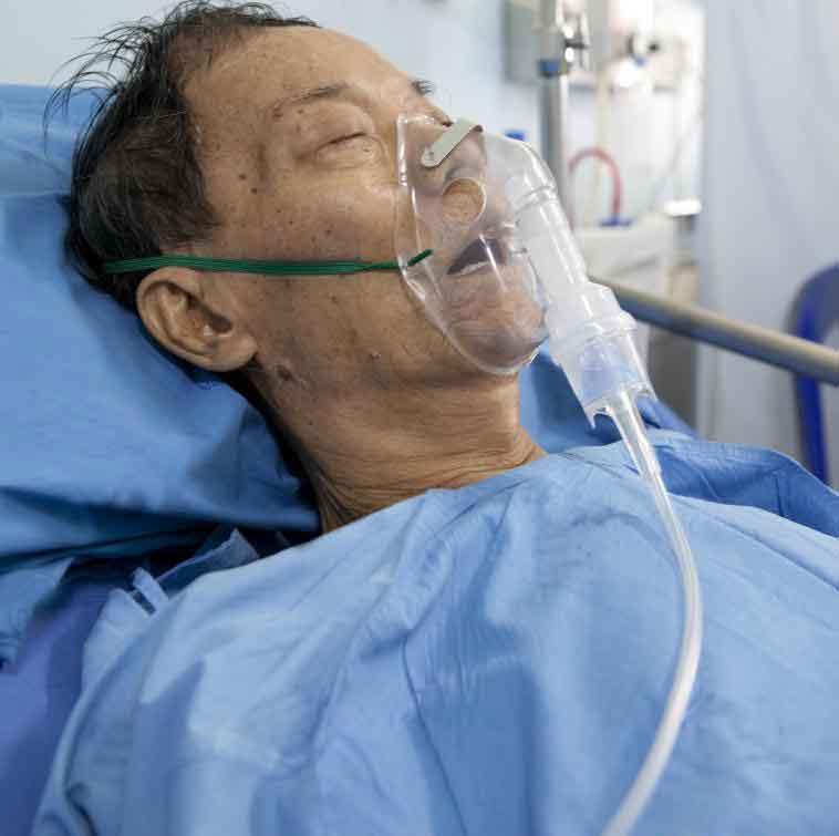 Некоторые виды дыхательной недостаточности требуют дополнительного кислорода.