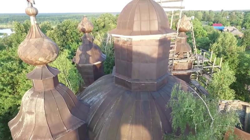 Казанский храм с Богородское с высоты птичьего полёта Оператор съёмки Сергей Киселёв