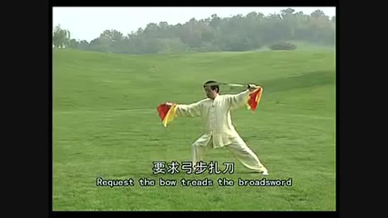 Chen Zhenglei Chen style Tai Chi Double Sabre Broad Sword