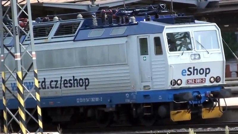 Vlaky ve stanici Praha hlavní nádraží - 17.8.2014