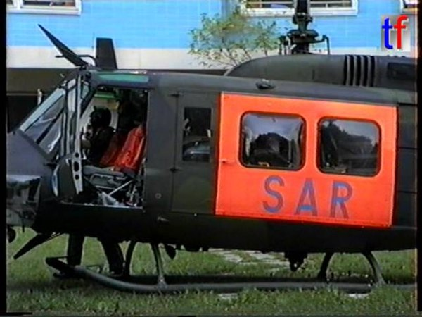 Bell UH-1D Bundeswehr SAR Rettungshubschrauber, Life Flight, Medivac, 1990.