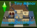 Sims 4 Speed Build 2 Tiny Manor Remodel and Decorate