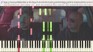 Остаться с тобой - Filatov & Karas vs. Виктор Цой (Ноты и Видеоурок для фортепиано) (piano cover)
