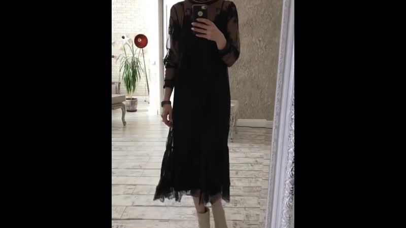 Только для женщин которые никогда не отказывают себе выглядет великолепно 😊😋 Платье гипюр с орнаментом цветы, в роли подклада о