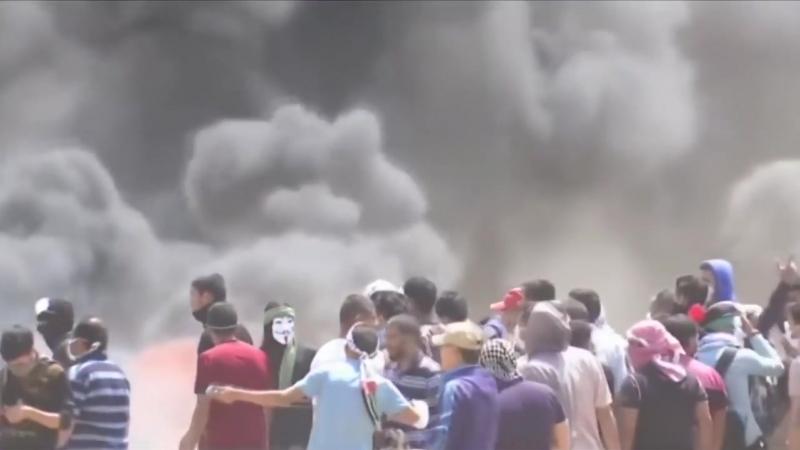 Жесткие столкновения в Секторе Газа Израиль с Палестиной 14.05.2018.mp4
