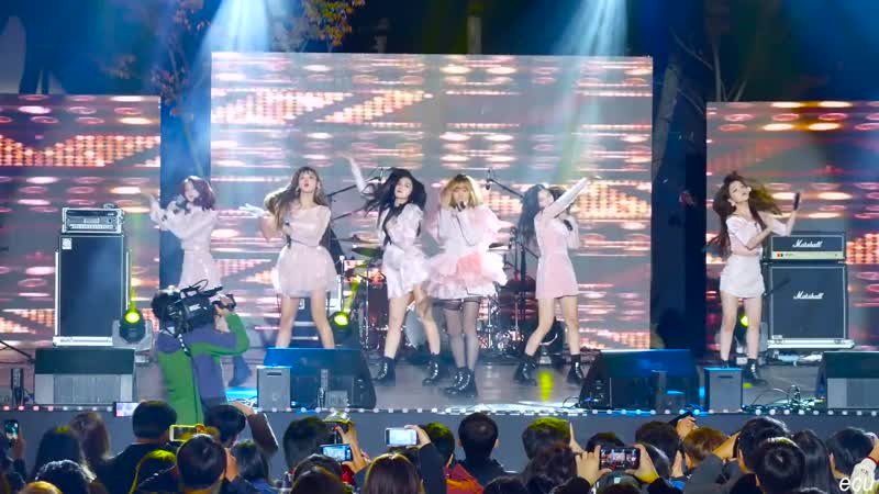 · Fancam · 181015 · OH MY GIRL - Remember MeSecret GardenWindy Day · Naju Light Festival ·