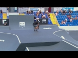 Kaine Mitchell wins the BMX Freestyle Park contest in Reims