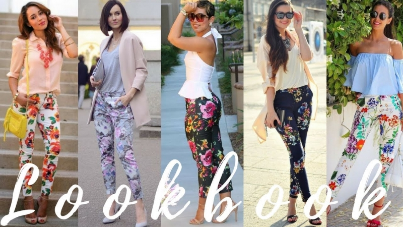 How To Style Floral Leggings Pants - 2018 Spring Fashion Trends