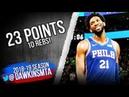 Joel Embiid Full Highlights 2018.10.16 Philadelphia 76ers vs Celtics - 23-10! | FreeDawkins