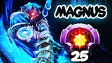 FIRST LEVEL 25 MAGNUS Divine Rank - Dota 2 EPIC Gameplay Compilation