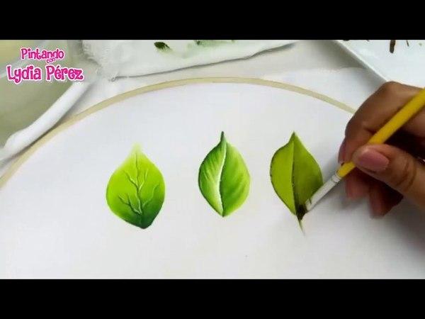 Como pintar hojas en tela fácil 2018