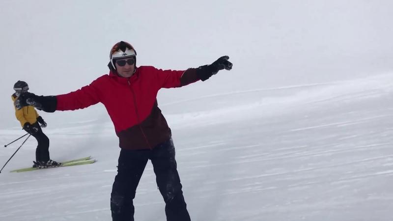 Мэр Киева Виталий Кличко, фрирайд на сноуборде. Эксклюзивное видео Кличко.