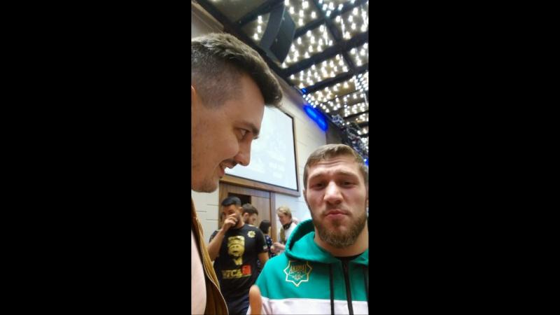 Мини-интервью с Магомедом Бибулатовым