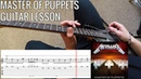 Guitar Lesson: Metallica - Master Of Puppets | PoV/Tab
