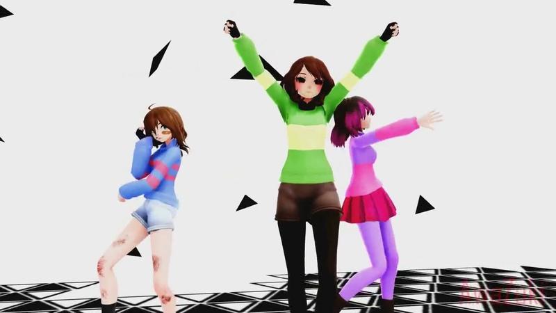 ◀️MMD X Glitchtale▶️ Liar Dance ◼️Betty ღ Chara ღ Frisk◼️ Thx for 500 subs ^^!