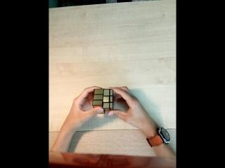 Обучение сборке зеркального кубика рубика 3 на 3 на 3.
