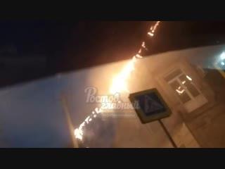 Замкнуло проводку на Халтуринском/ Варфоломеева 26.11.2018 Ростов-на-Дону Главный